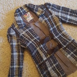 FREE PEOPLE Plaid Buckle Front Jacket Size 0